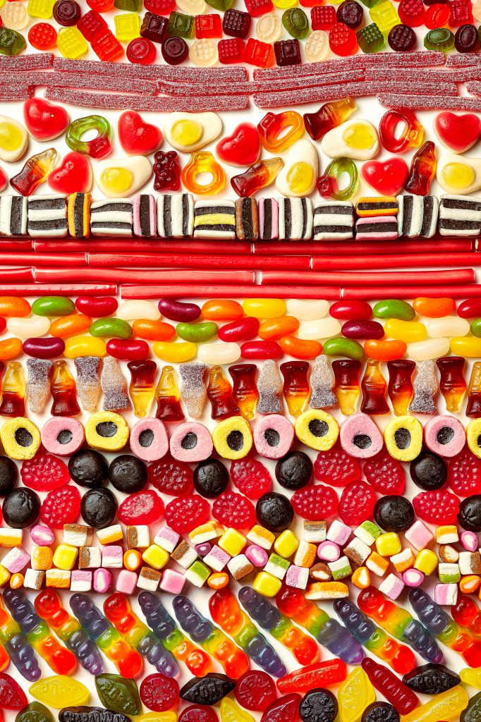 Selection of classic british sweets by leicester food photographer