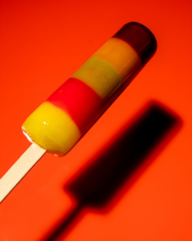 Melting ice lolly photograph