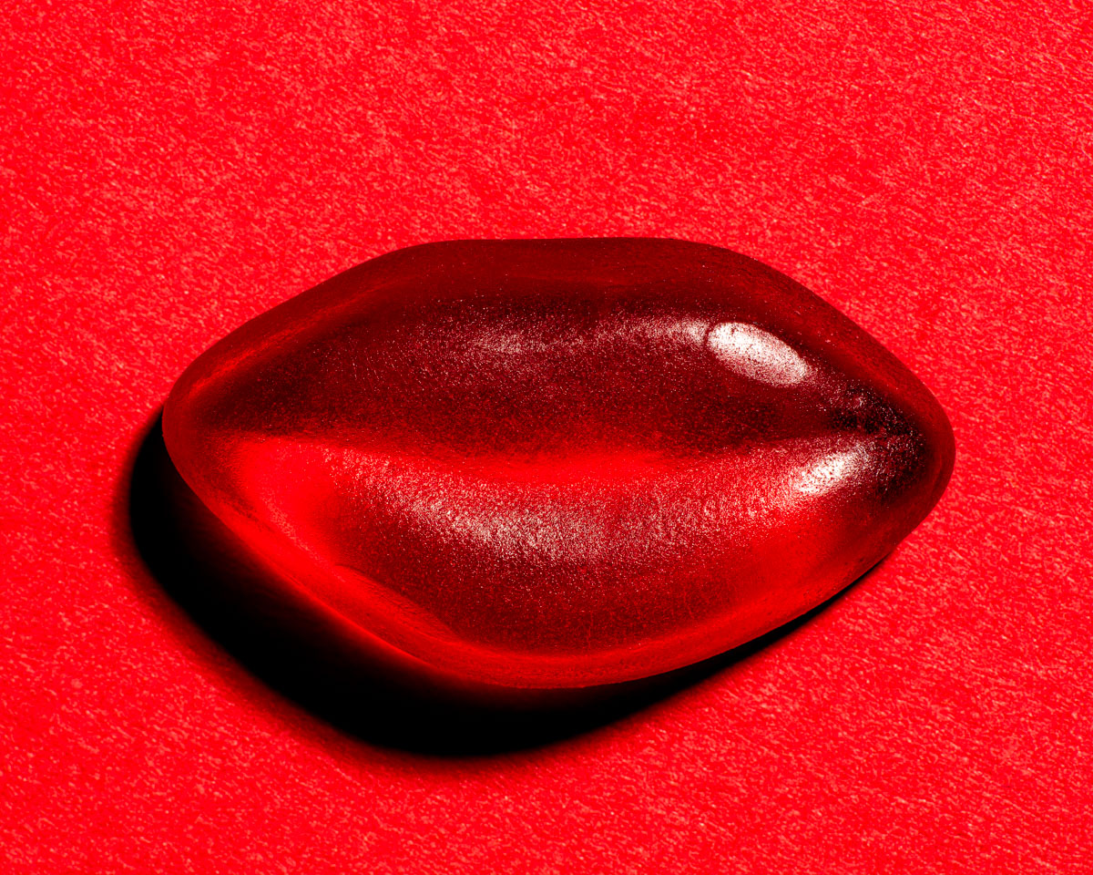 Red jelly lips by leicester food photographer