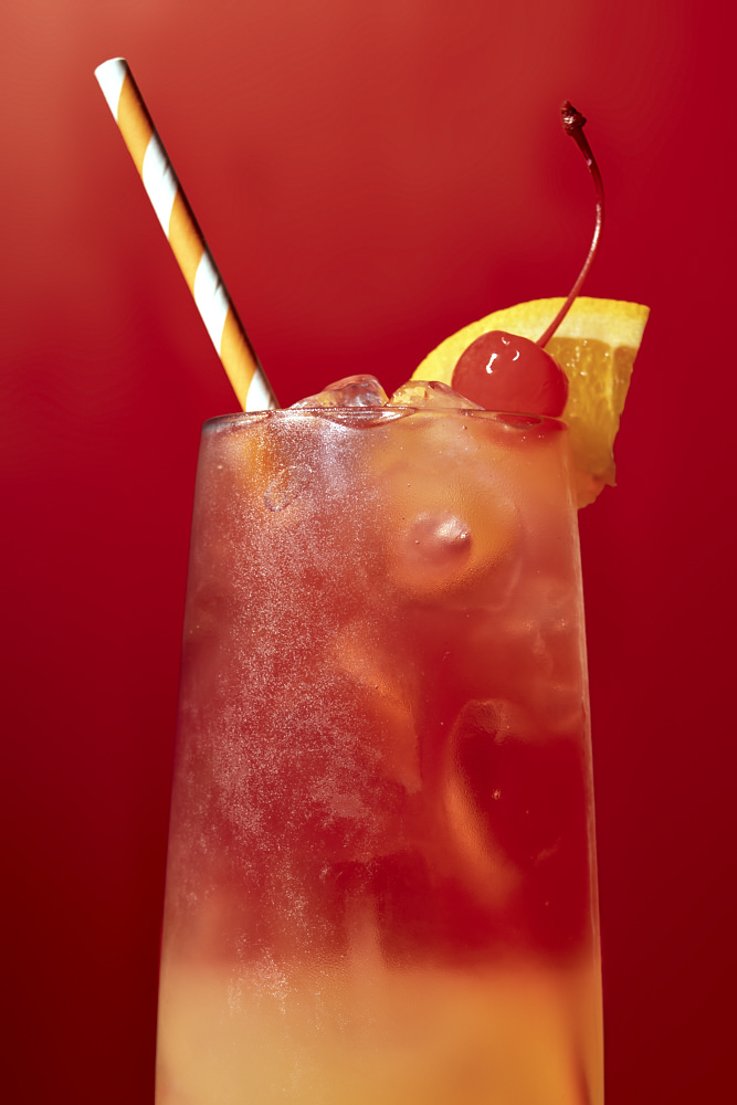Classic sex on the beach cocktail drink photography