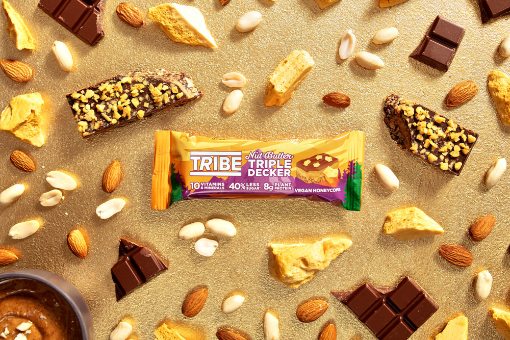 ingredient photography with a protein bar by scott choucino